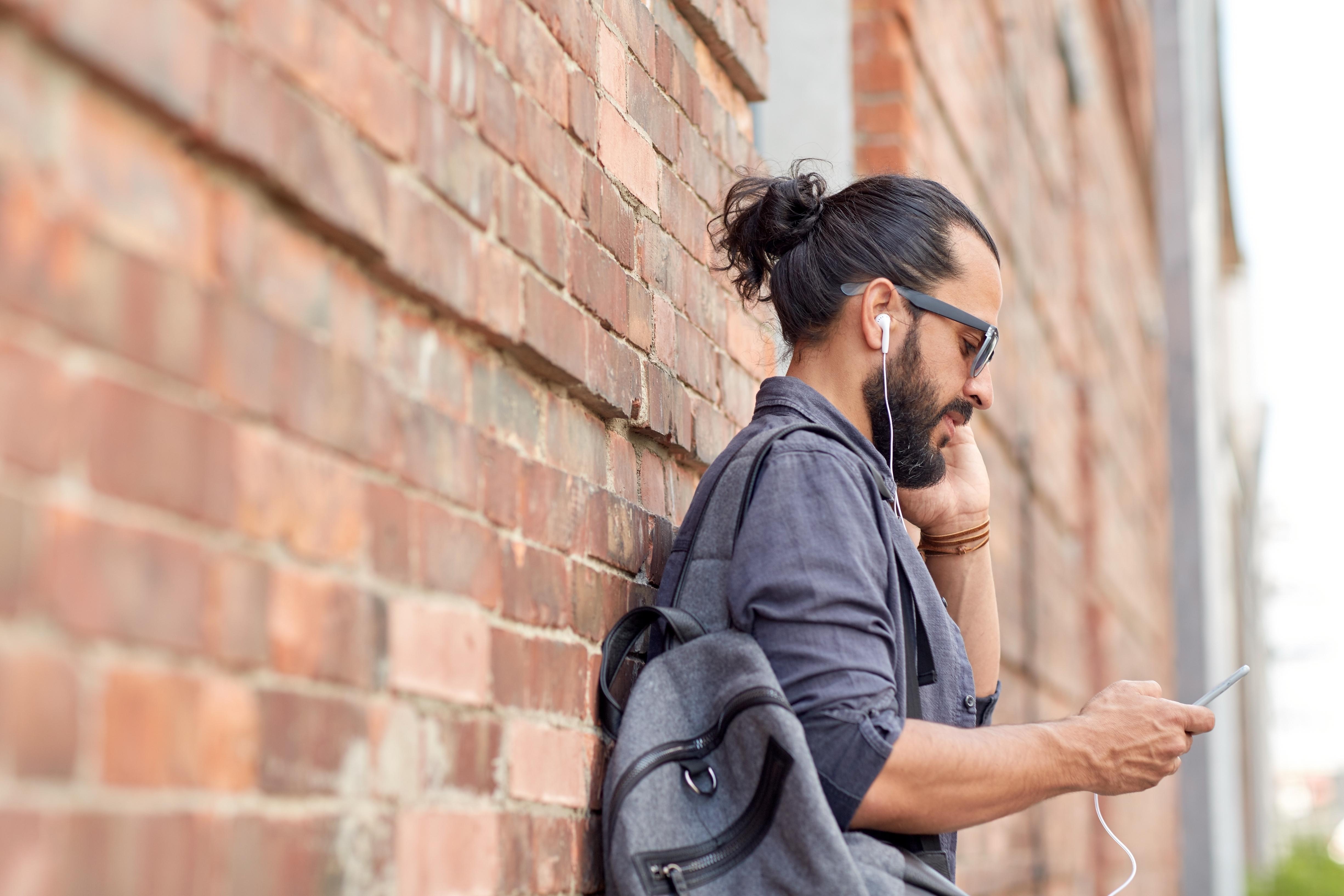 man talking phone