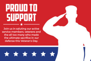 proud to support veterans free icon