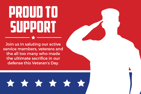 proud to support icon veterans day