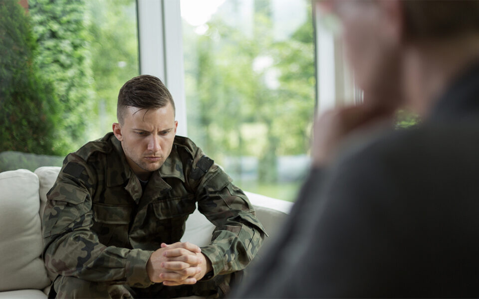 military veteran in therapy